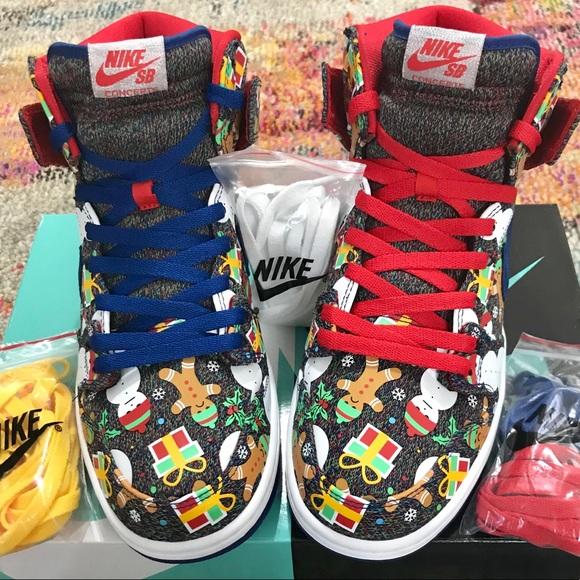 cab474918051d Nike Dunk High Pro SB (Ugly Xmas Sweater). M 5b6df6427ee9e2a122908d68